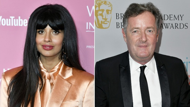 Jameela Jamil und Piers Morgan