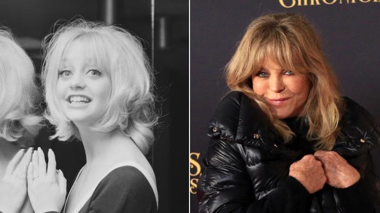 Junger und alter Goldie Hawn Bildspaltung