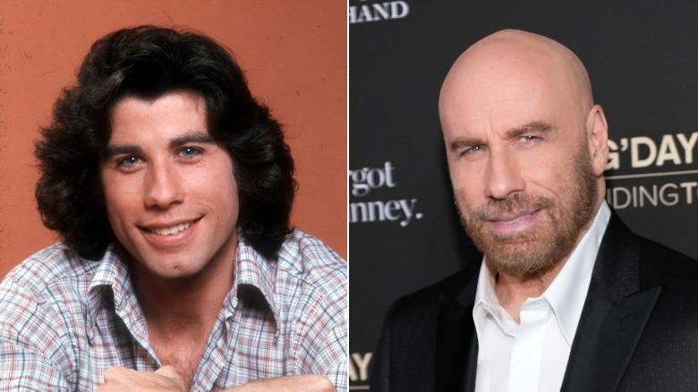 Junger und alter John Travolta Bildspaltung