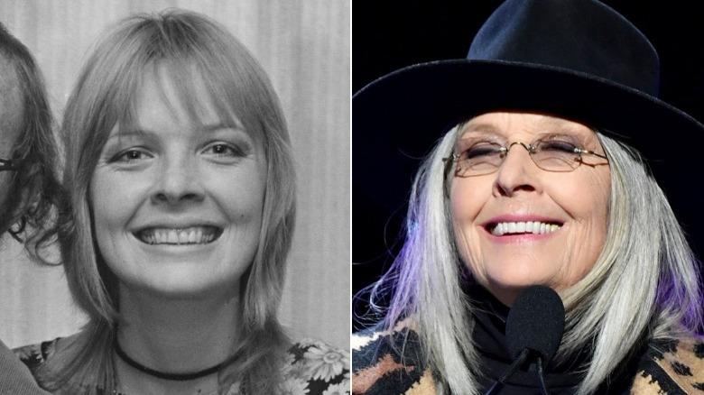 Junge und alte Diane Keaton Bild gespalten
