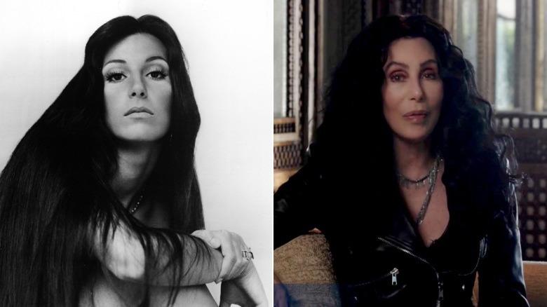 Junges und altes Cher-Image gespalten