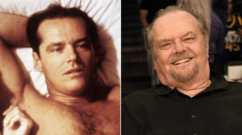 Junger und alter Jack Nicholson-Imagespaltung