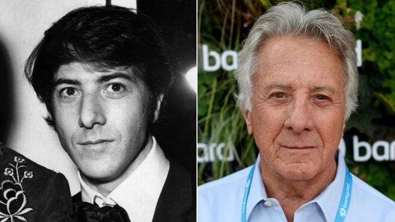 Junger und alter Dustin Hoffman Bildspaltung