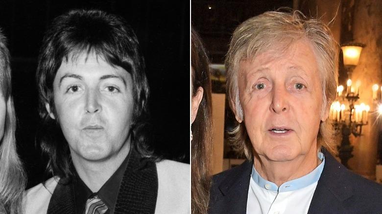 Junger und alter Paul McCartney-Bildspaltung