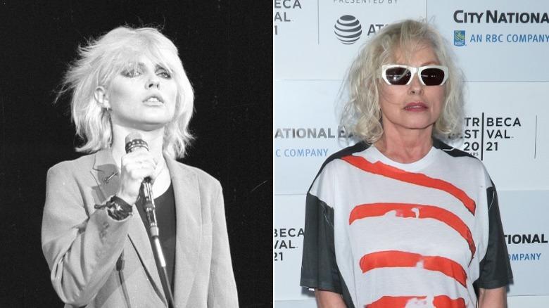 Junge und alte Debbie Harry-Bild gespalten