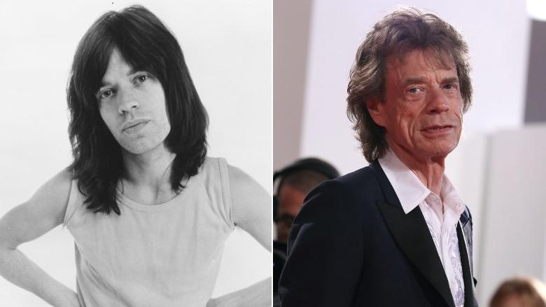 Junger und alter Mick Jagger-Image-Split