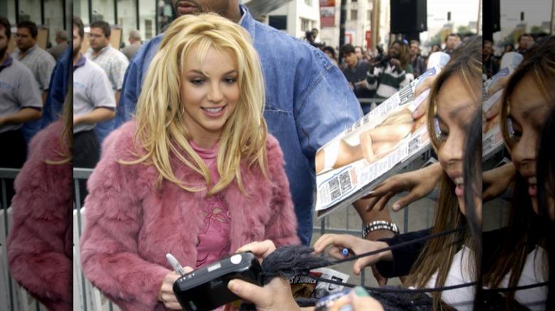 Britney Spears mit Fans