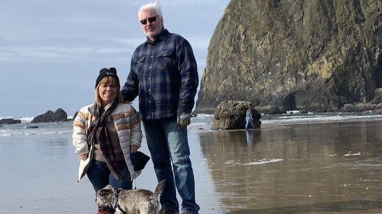 Amy Roloff und Chris Marek am Strand