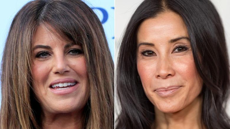 Monica Lewinsky lächelt und Lisa Ling posiert