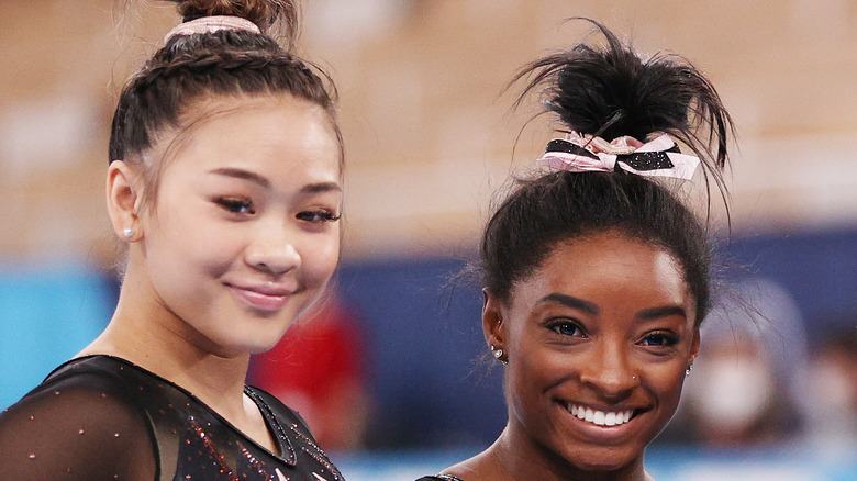 Suni Lee und Simone Biles Wettbewerb